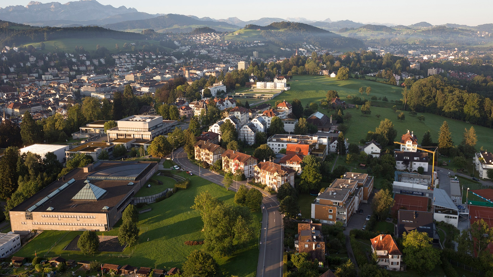 Panorama photo of HSG and St.Gallen